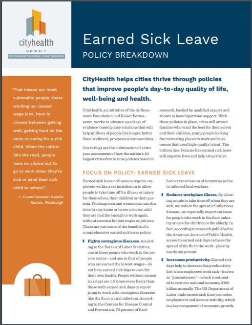 Policy Brief: Earned Sick Leave