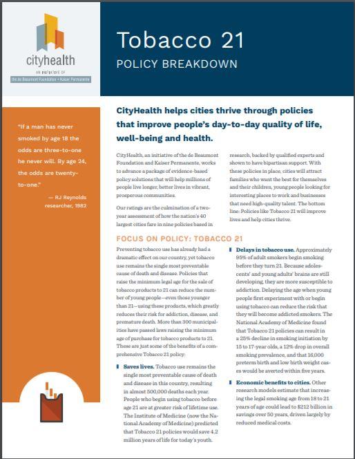 Policy Brief: Tobacco 21