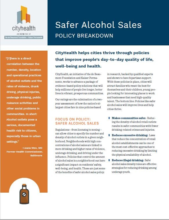 Policy Brief: Safer Alcohol Sales