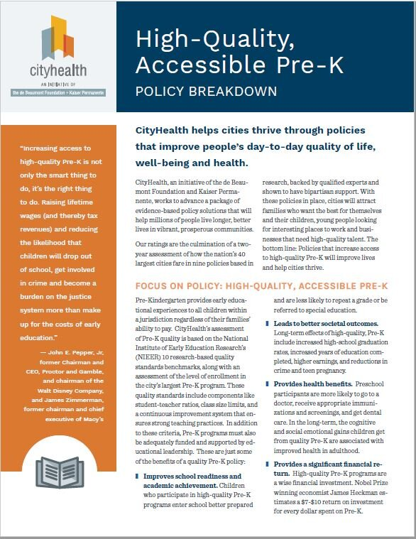 Policy Brief: High-Quality Accessible Pre-K