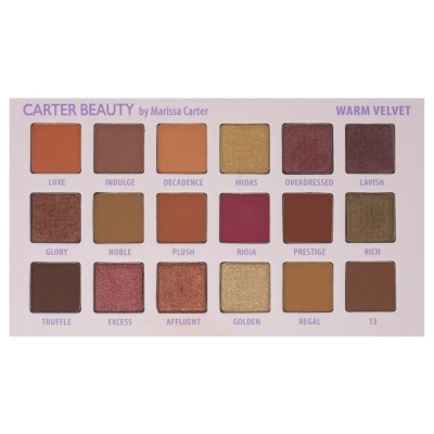 Carter Beauty Warm Velvet Eyeshadow Palette