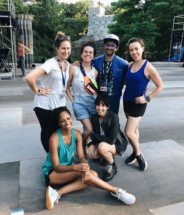 A year ago I emailed @instachasebrock for the first time and exactly one year later we began tech for @publictheaterny HERCULES! Life is crazy and so is this show! ⭐️⭐️⭐️ #publicworkshercules #wearepublicworks
