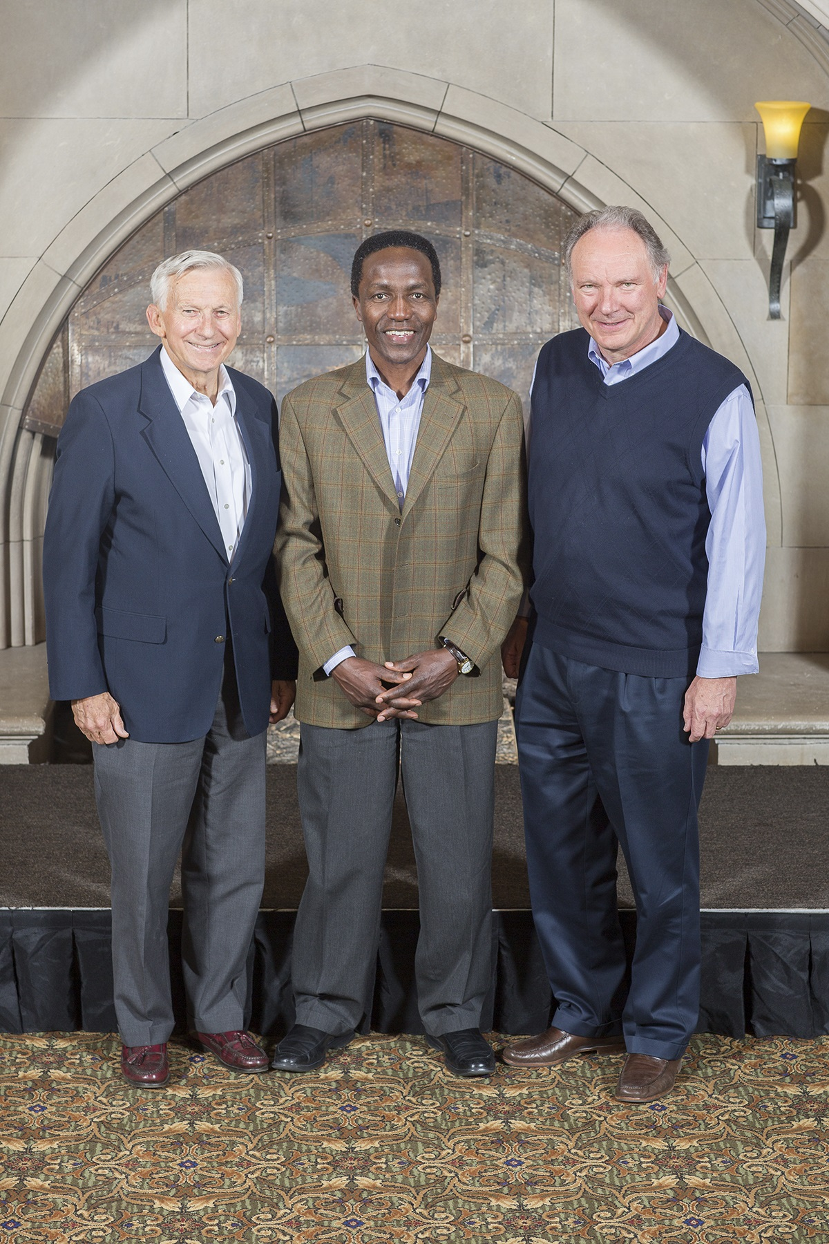 L to R: Jerry White, Mutua Mahiaini, Mike Treneer