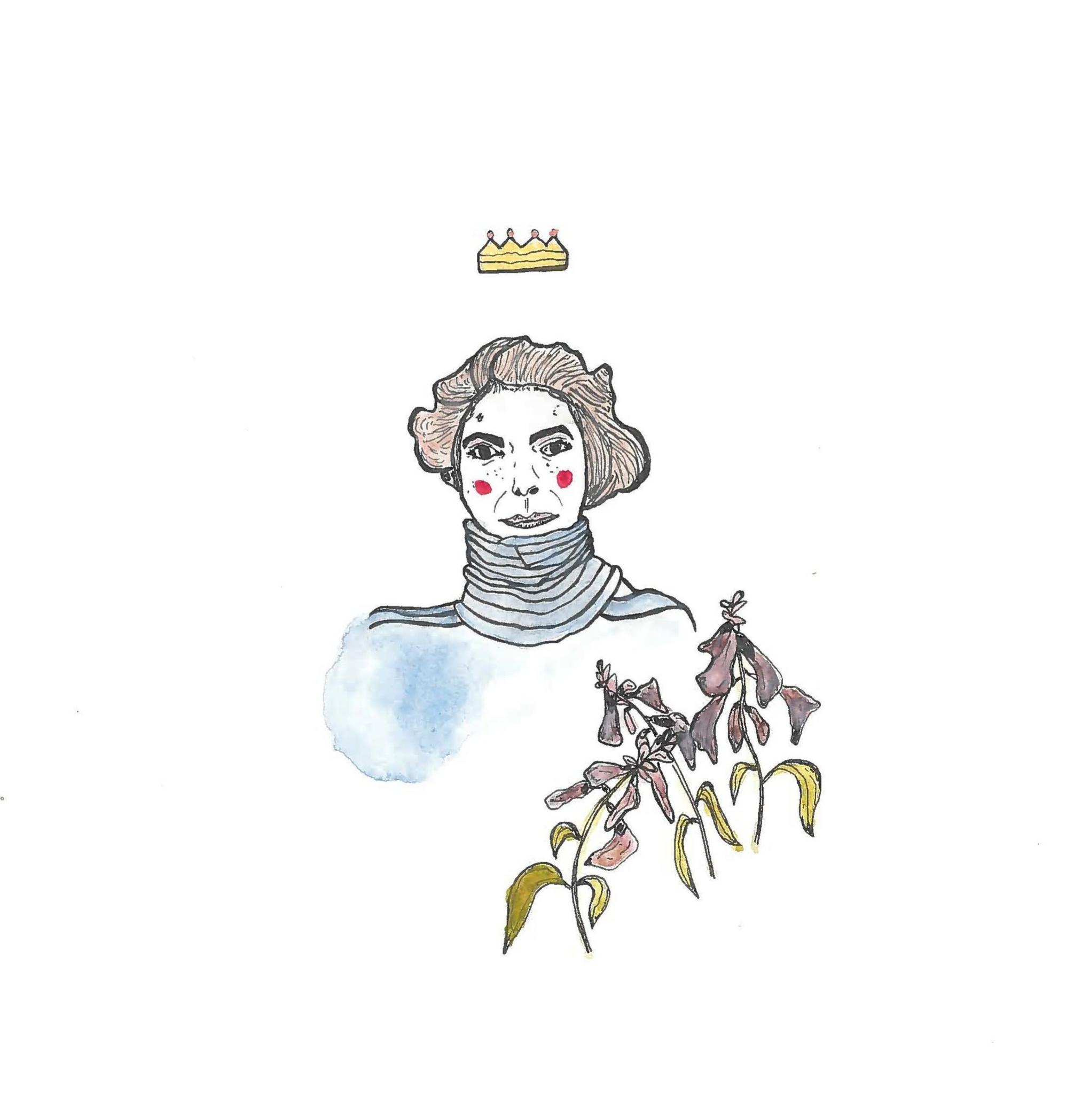 Turtleneck Self Portrait w Flowers & Crown.jpg