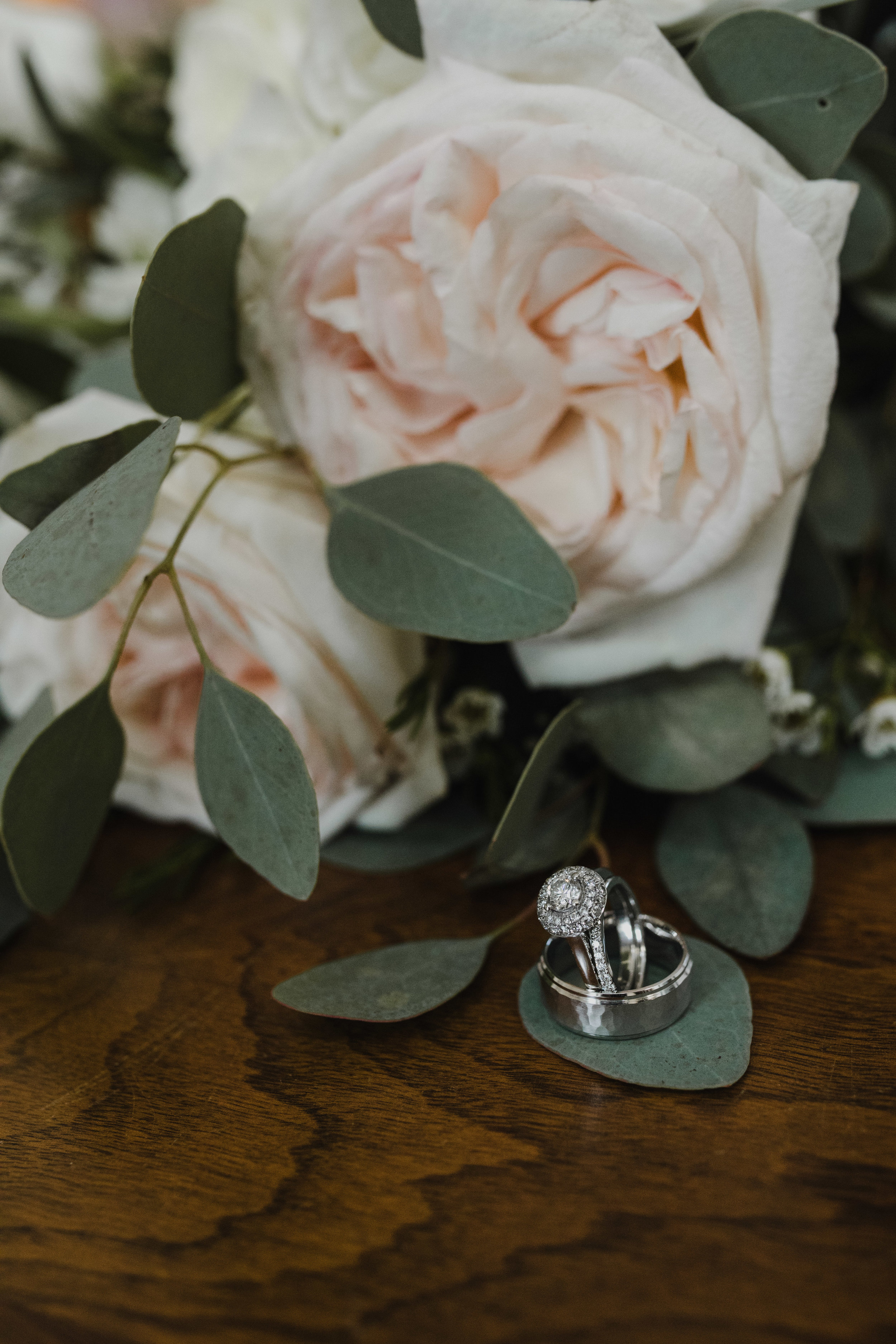 Garden Rose and Wedding Rings