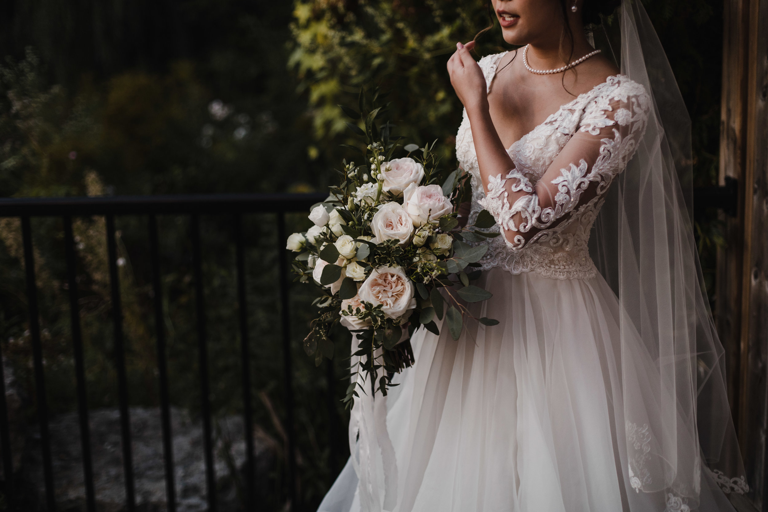 Lace Sleeves on Wedding Dress
