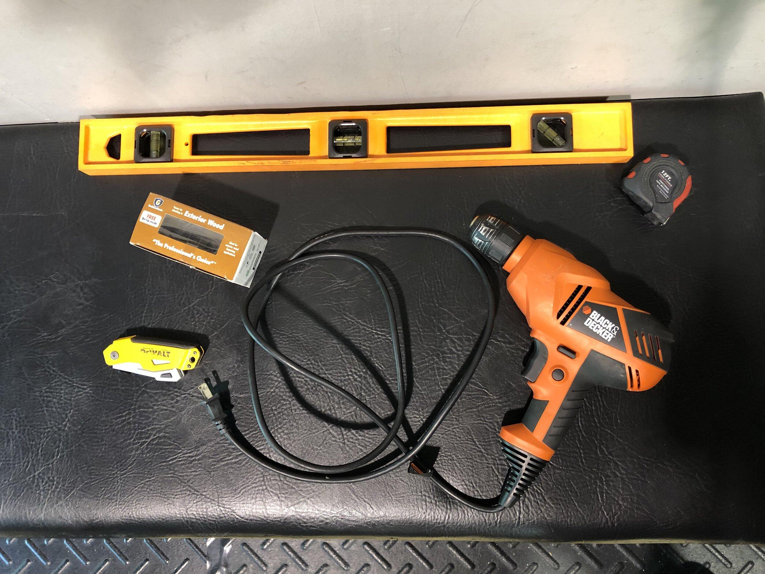 The minimum tools you'll need.