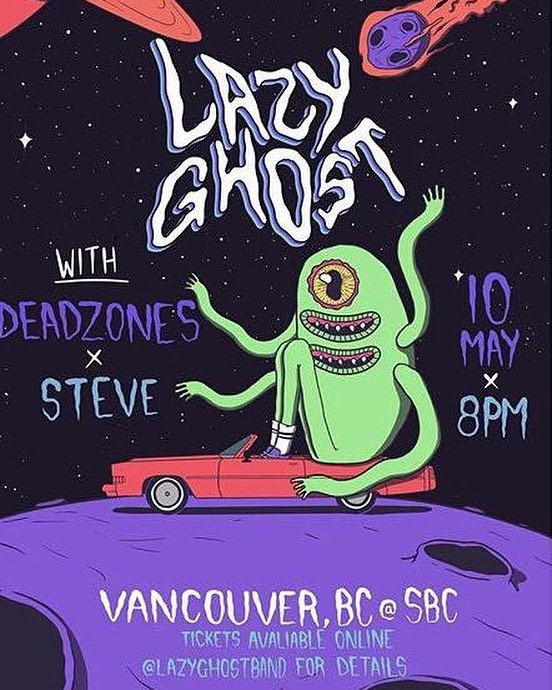We're getting the gang back together!!! With Lazy Ghost and Steve May 10 at @sbcrestaurant 😚😚😚 #livemusic #vancouvermusic #localmusic #garagerock #psychedelic #surf #surfrock #steve #satan #rockandroll