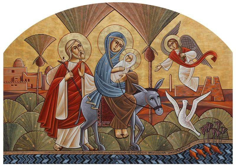 icon of the Holy Family, artist unknown