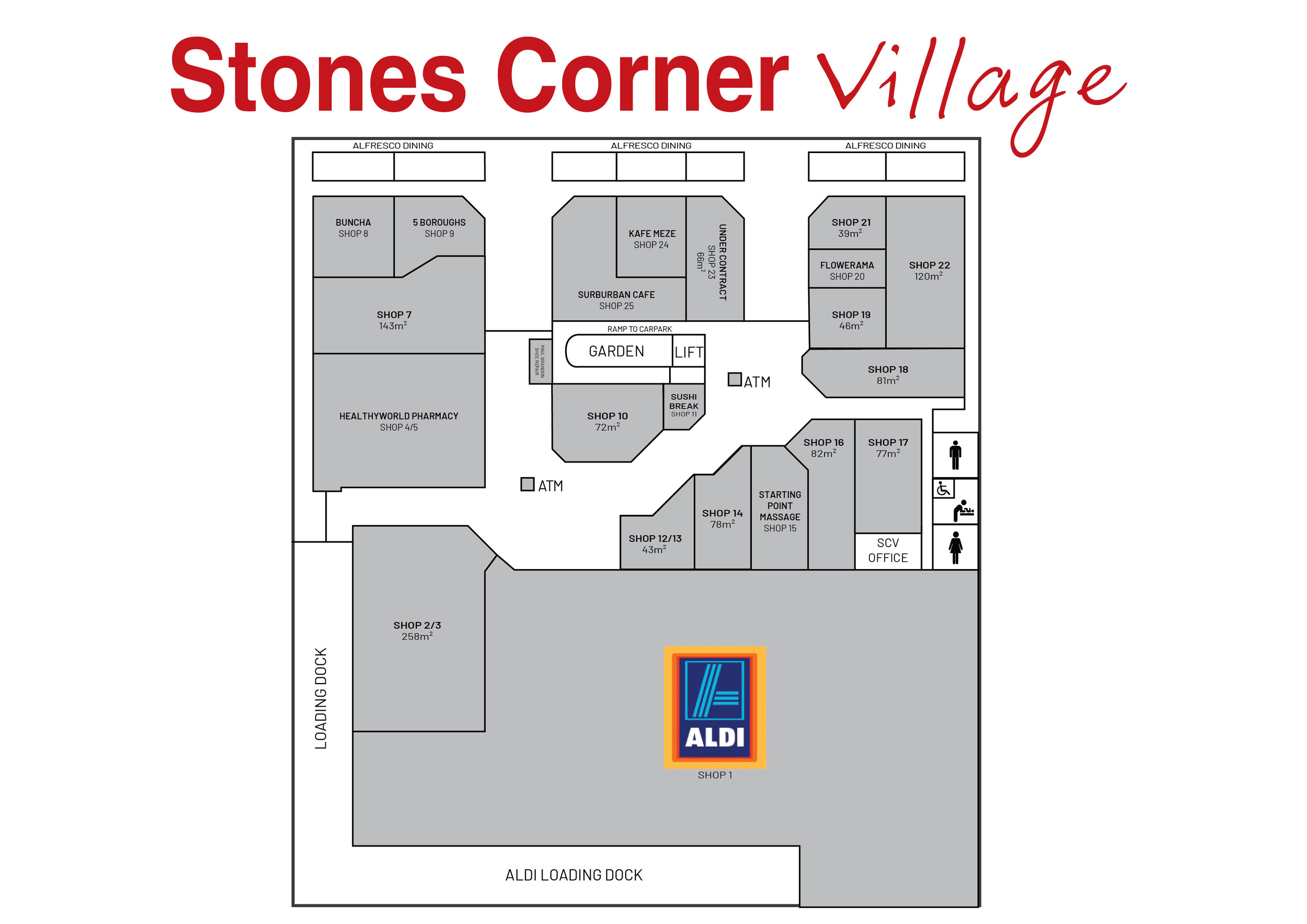 Map - The convenience doesn't end at free 2hr parking. Here's our floorpan for easier navigating.