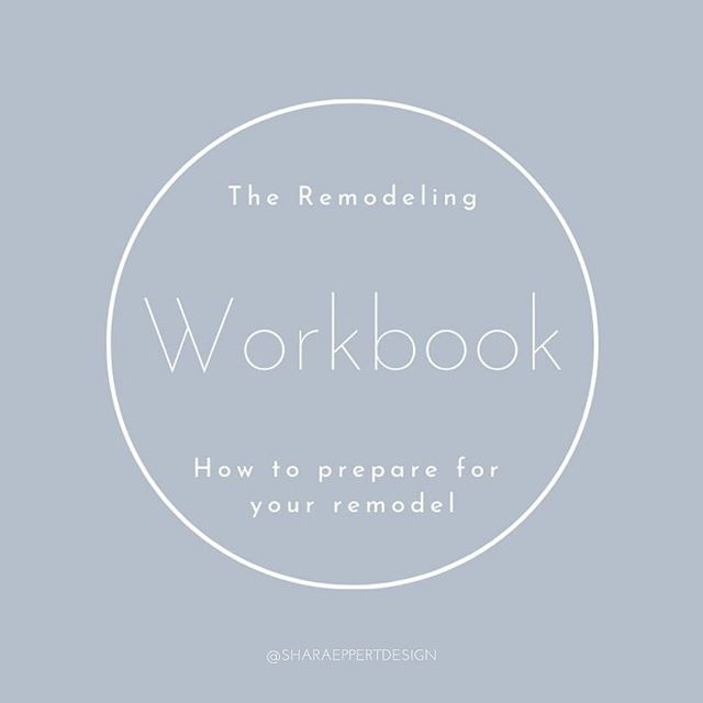 To help save time and money download my FREE remodeling workbook before you start your remodel project. Link in BIO #freedownload #renovation #remodeling #remodel #homeimprovement #sharaeppertdesign