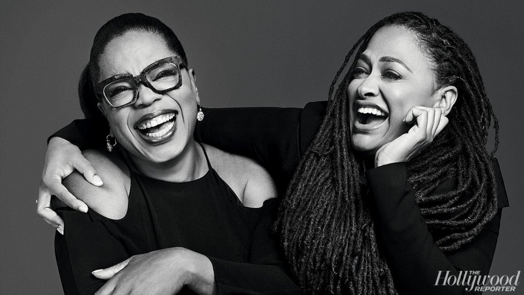 Ava DuVernay and Oprah. Portrait by Miller Mobley for The Hollywood Reporter.