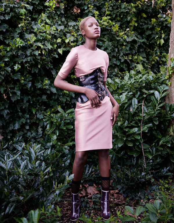 Dress - Charlotte Zimbehl / Corset - Monika Bereza / Socks - Wolford / Shoes - stylist's own