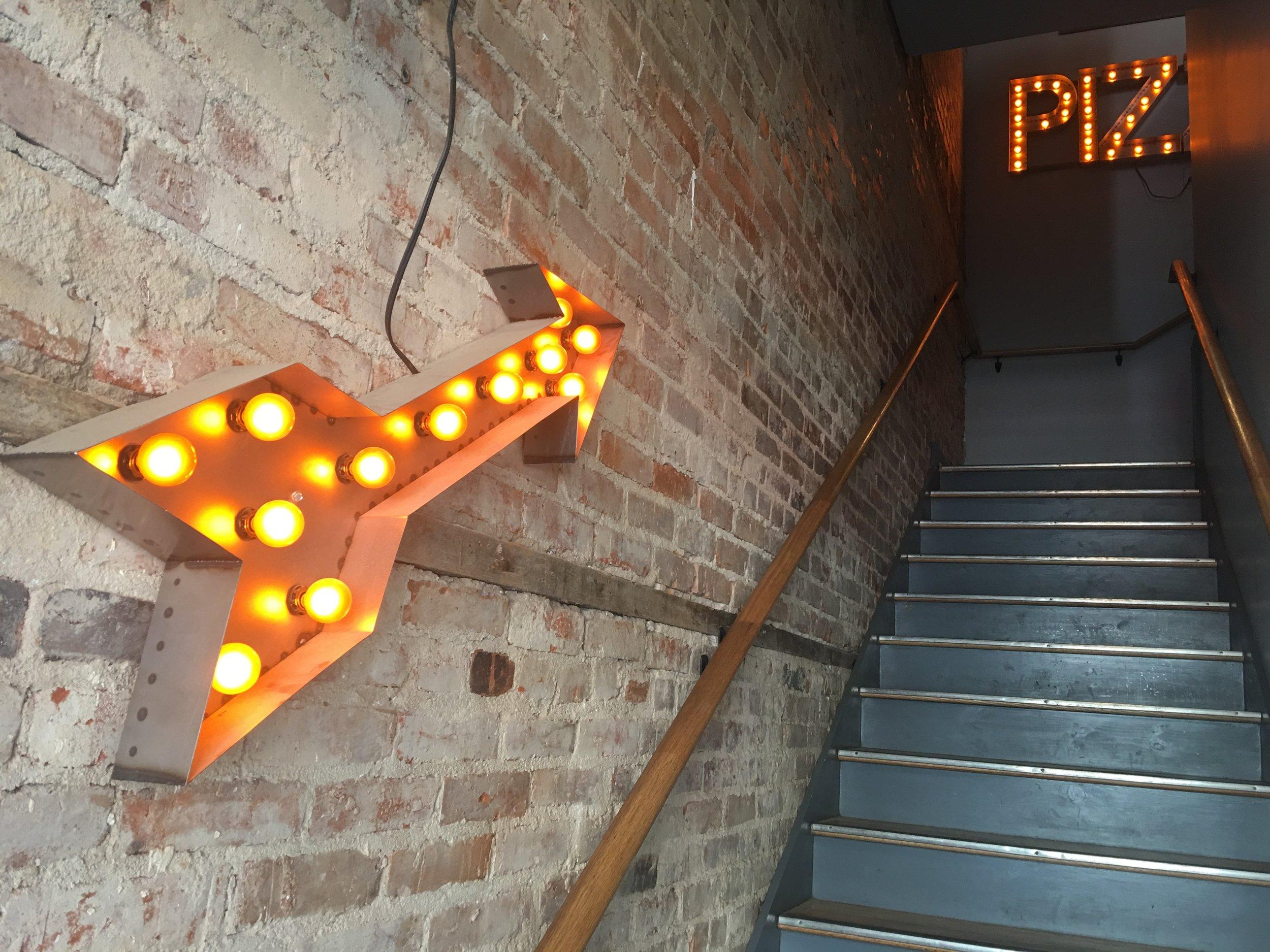 Pie Pushers stairs
