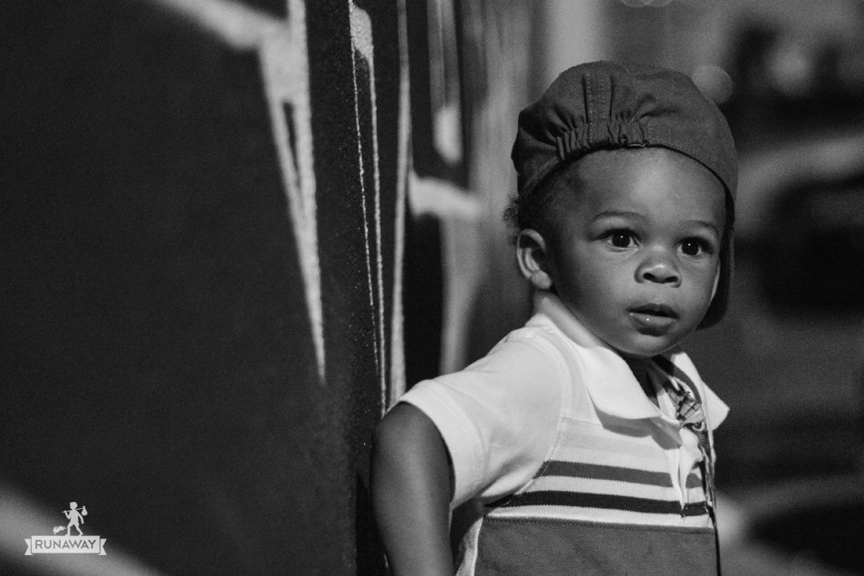 Devon at 2 years old, a small child with big dreams.