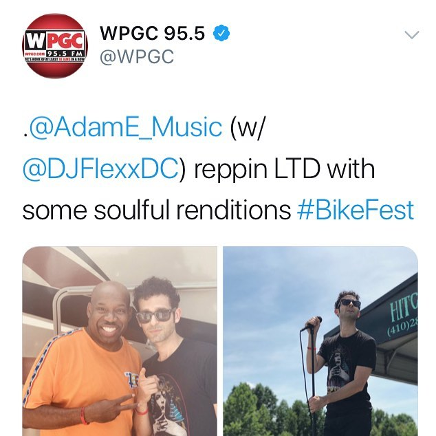 Shout out @wpgc @djflexxdc @tonyredz247 for having me perform at BikeFest 2018 alongside my crew @jamesaaronjr @deuce2times @dhxpe my LTD fam and headliner @kingcombs who did an awesome job...EVERYONE CAME OUT AND CRUSHED IT! 👏 congrats all around #wpgc #bikefest #bikefest2018 #dc #music #AdamE #AdamEmusic #AdamEproject #dmv #marylandinternationalraceway