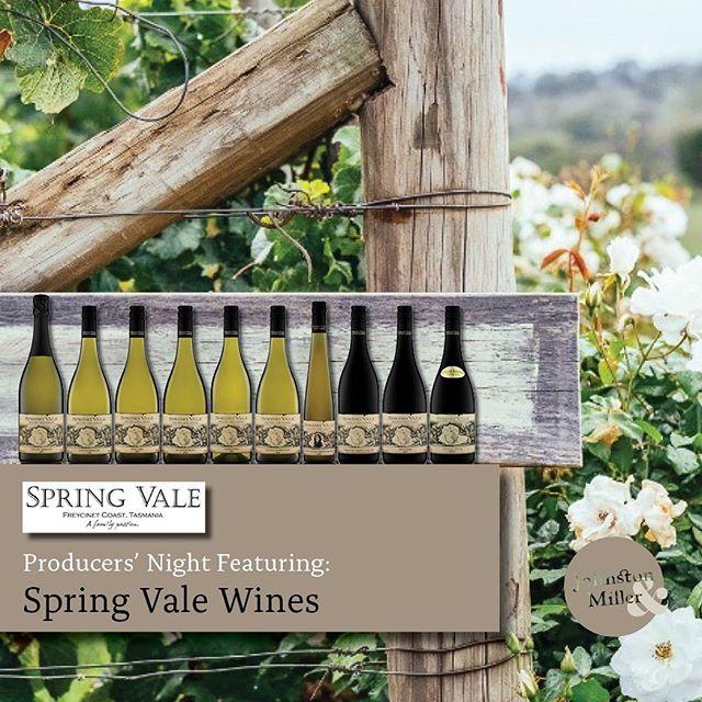Friday 27th September come and sample some of the best wine in Tasmania. @springvalewines will be joining us from 4-7pm for our monthly producers night.  #producersnight #tasmanianwine #taswine #welovewine #winelovers #springvalewines #fridaywine #meetthemaker #welovehobart #whattodoinhobart
