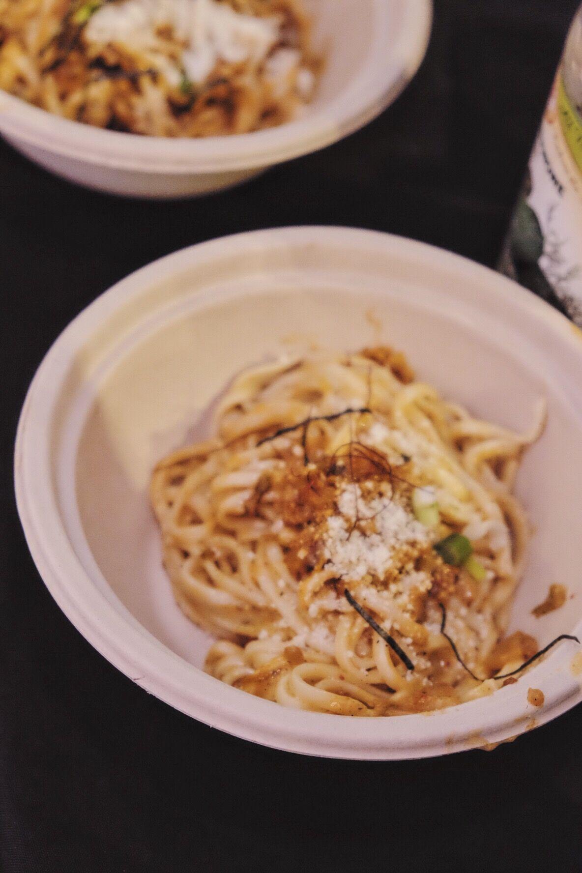 Kimchi carbonara by  YooEating  Photographer:  Nina Gallant