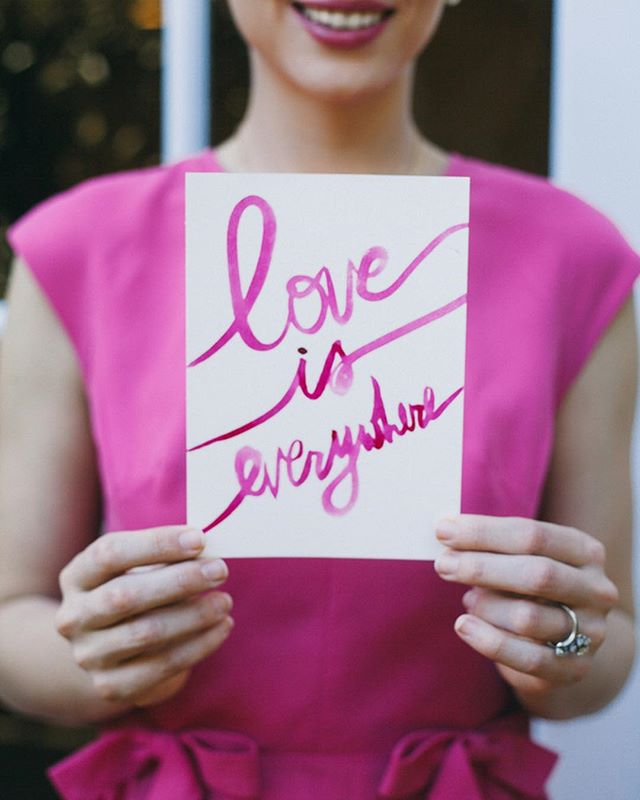 Indeed it is! Happy love day, friends! 💕 . . . . . . #throwbackthursday on this Valentine's Day to the very first #styledshoot I participated in. This amazing group of creatives made a pink + gold dream a sparkling reality! @eventfulweddings @thelittlealli @pigmentandparchment @forevercellars @shopleathernlace @paperfoxla  @edenfloralslo @edenfloralslo @fessparkerwinecountryinn #engagement #wedding #valentinesday #inspiration #calligraphy #handlettered #pink #gold #glitter