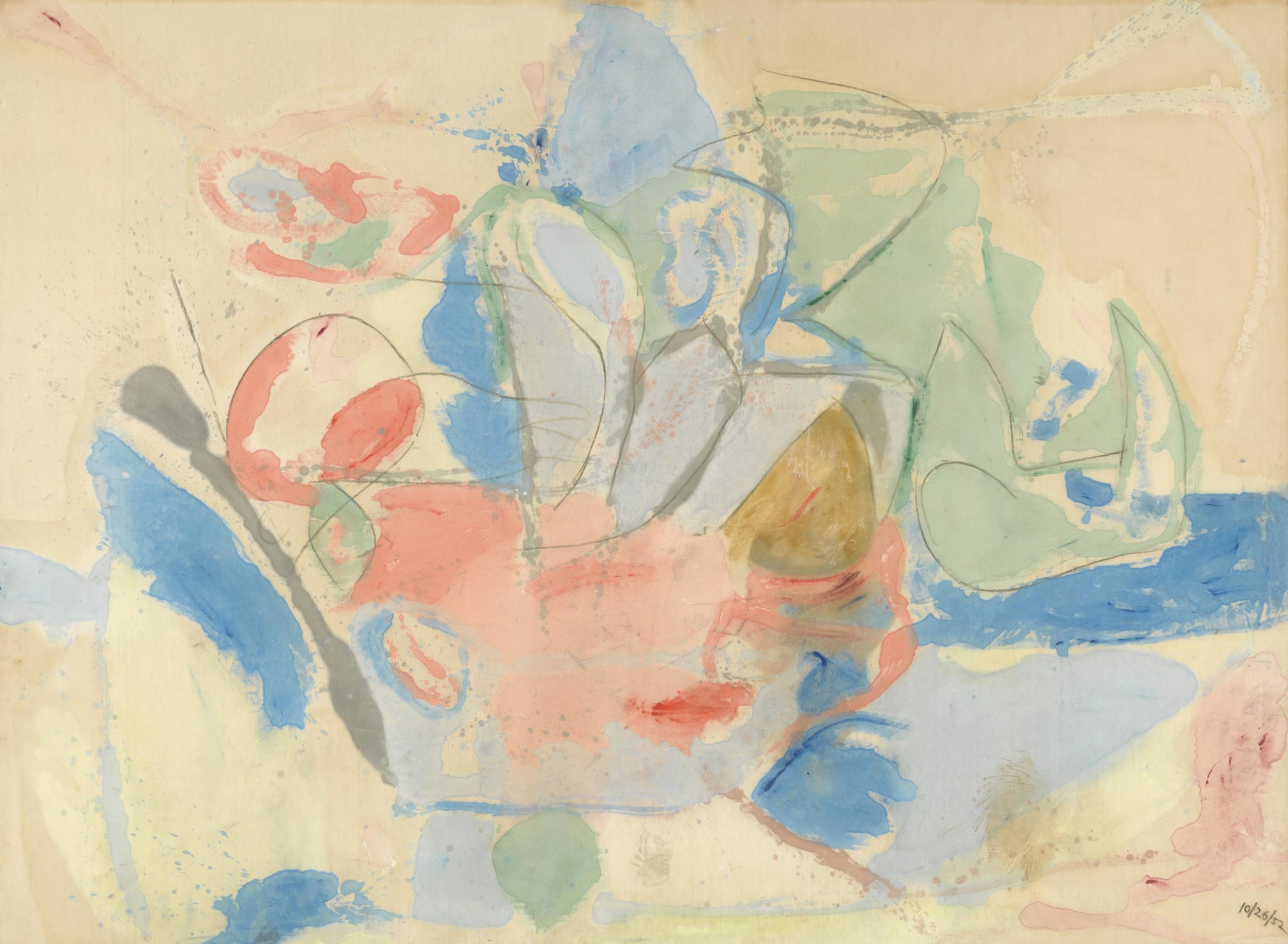 Helen Frankenthaler, Mountains and Sea  National Gallery of Art, Washington, 1952
