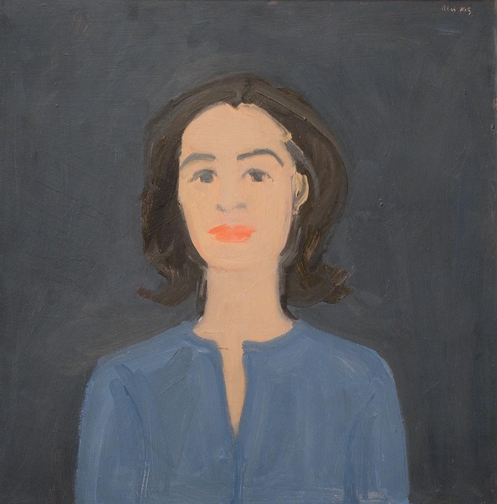 Ada on Blue , Alex Katz Whitney Museum of American Art, 1959