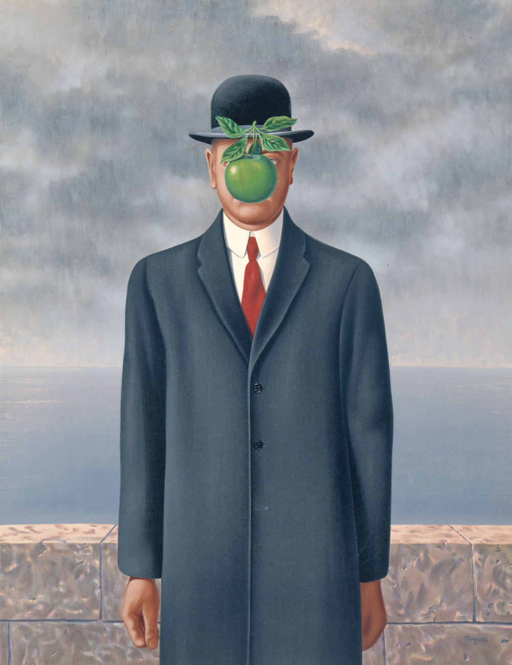 The Son of Man , René Magritte San Francisco Museum of Modern Art, 1964