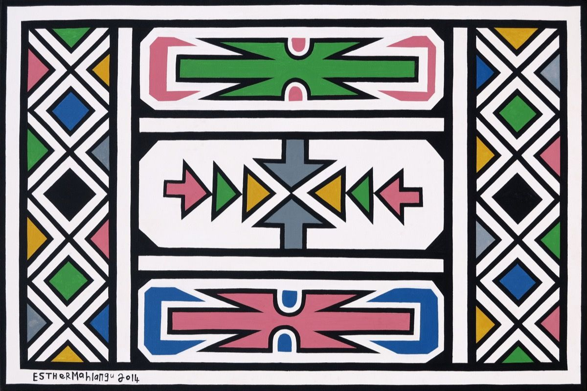 Abstract , Esther Mahlangu 2014