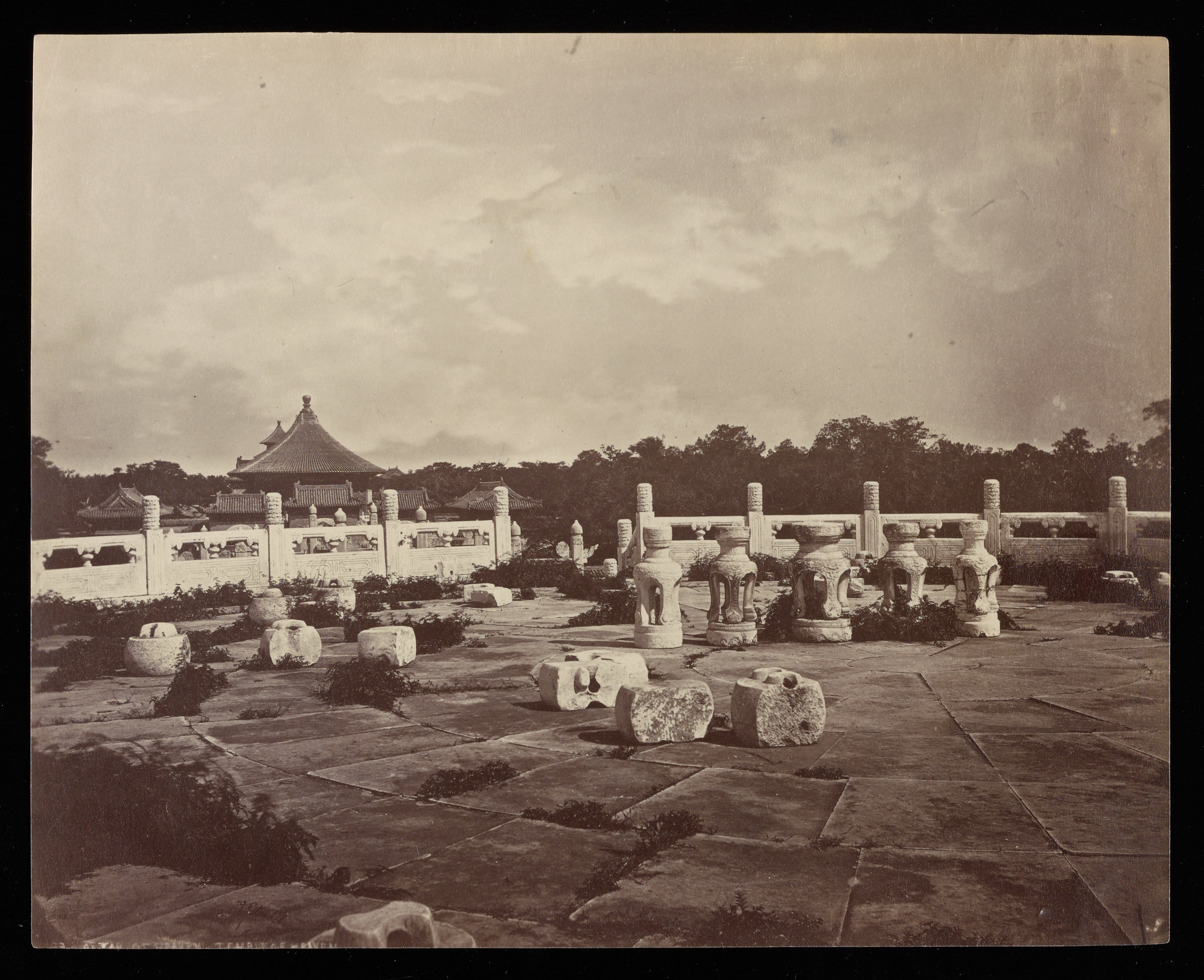 Altar of Heaven, Temple of Heaven , Thomas Child Getty Research Institute, c. 1870s