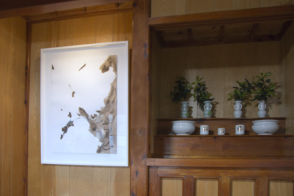 Sea Birth: Part Two , James Jack 2017, Installation View at Ikei Island Taira Historical House  Photograph from the artist