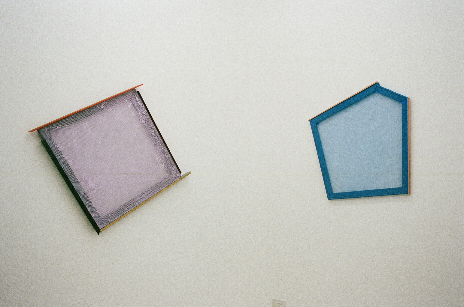 Composition 33  (L) and  Composition 31  (R), HelenA Pritchard 2018, Installation View at 1961 Projects