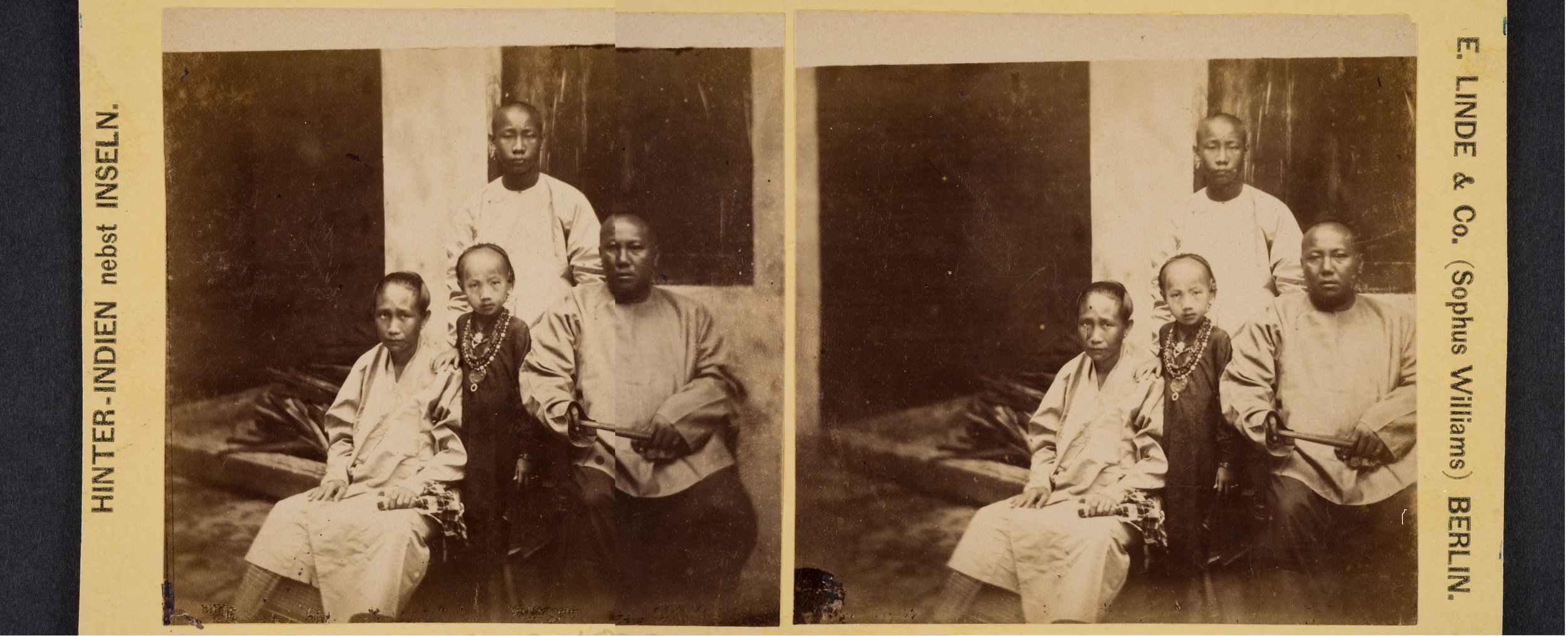 Tan Kim Ching and Family , Fedor Jagor Peranakan Museum, c. 1857–58  Credit: Peranakan Museum, Gift of Mr and Mrs Lee Kip Lee