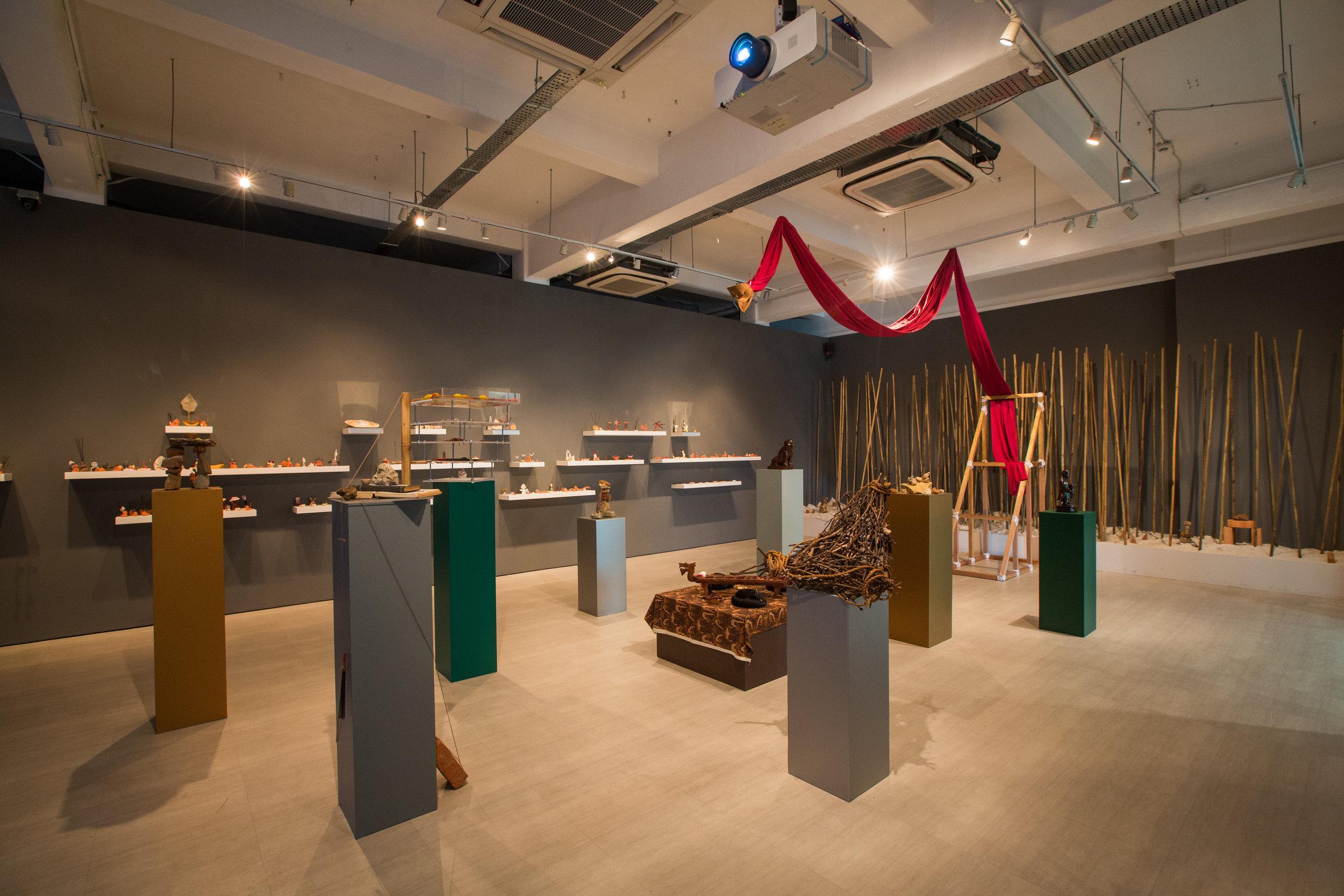Pragmatic Prayers for the Kala at the Threshold , Zarina Muhammad 2018, Installation View at Singapore Art Museum  Photography by Singapore Art Museum