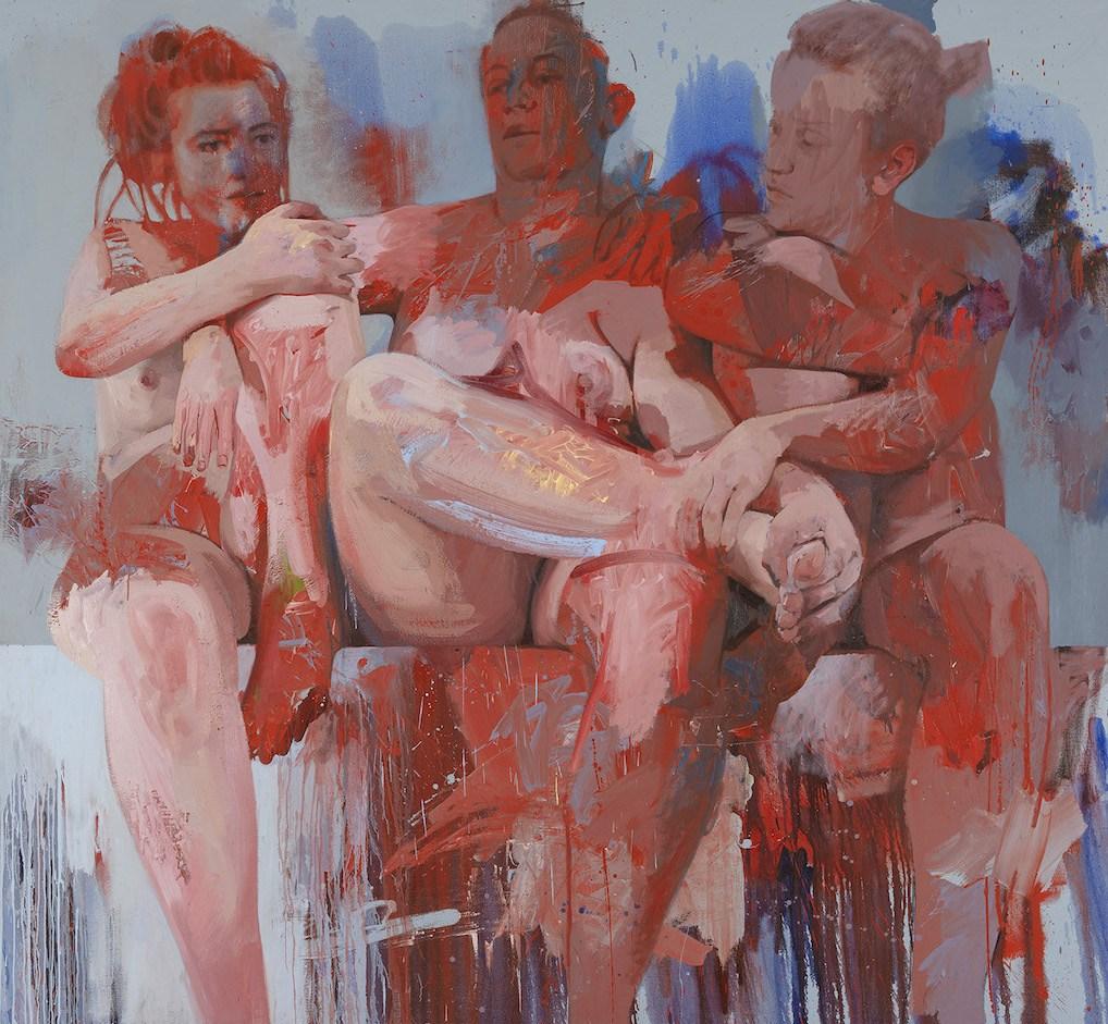 Red Fates , Jenny Saville Gagosian, 2018