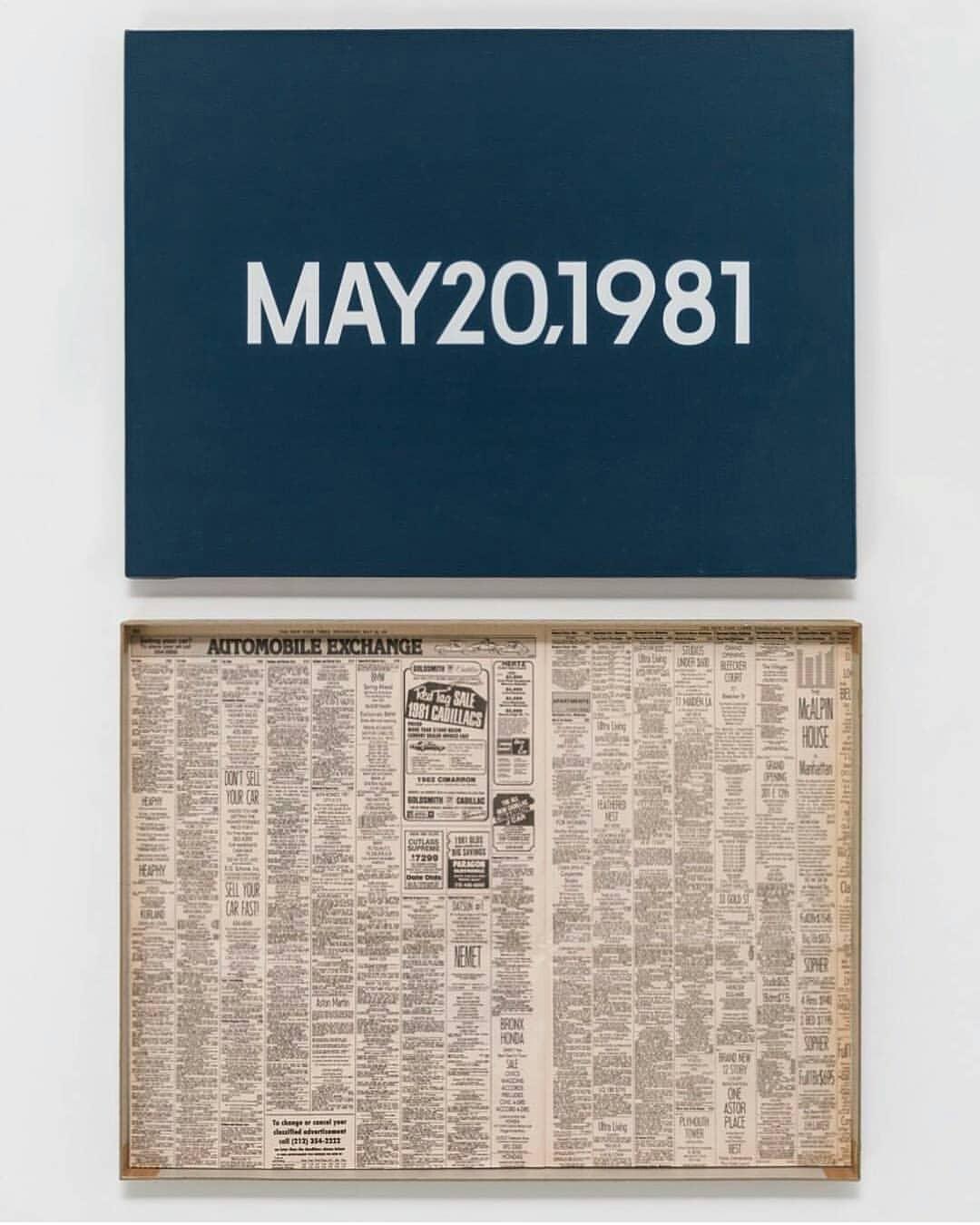 "MAY 20, 1981 (""Wednesday.""),  On Kawara 1981"