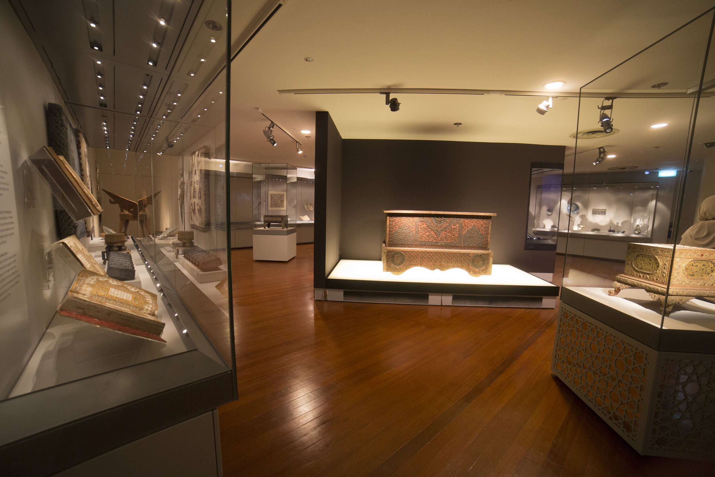 Islamic Art Gallery Installation View at Asian Civilisations Museum  Photography by Asian Civilisations Museum