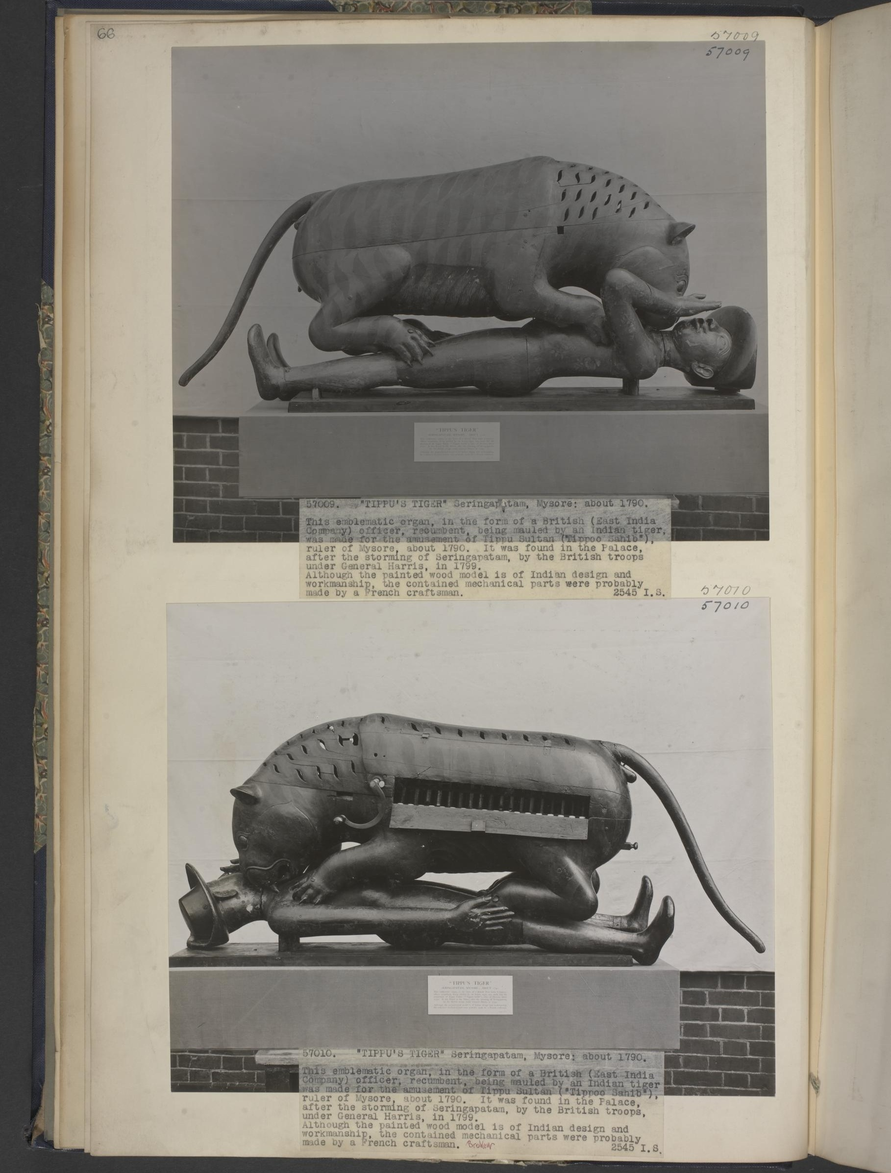 Tipu's Tiger  Mysore, India, c. 1780s - 1790s  Credit: Victoria & Albert Museum