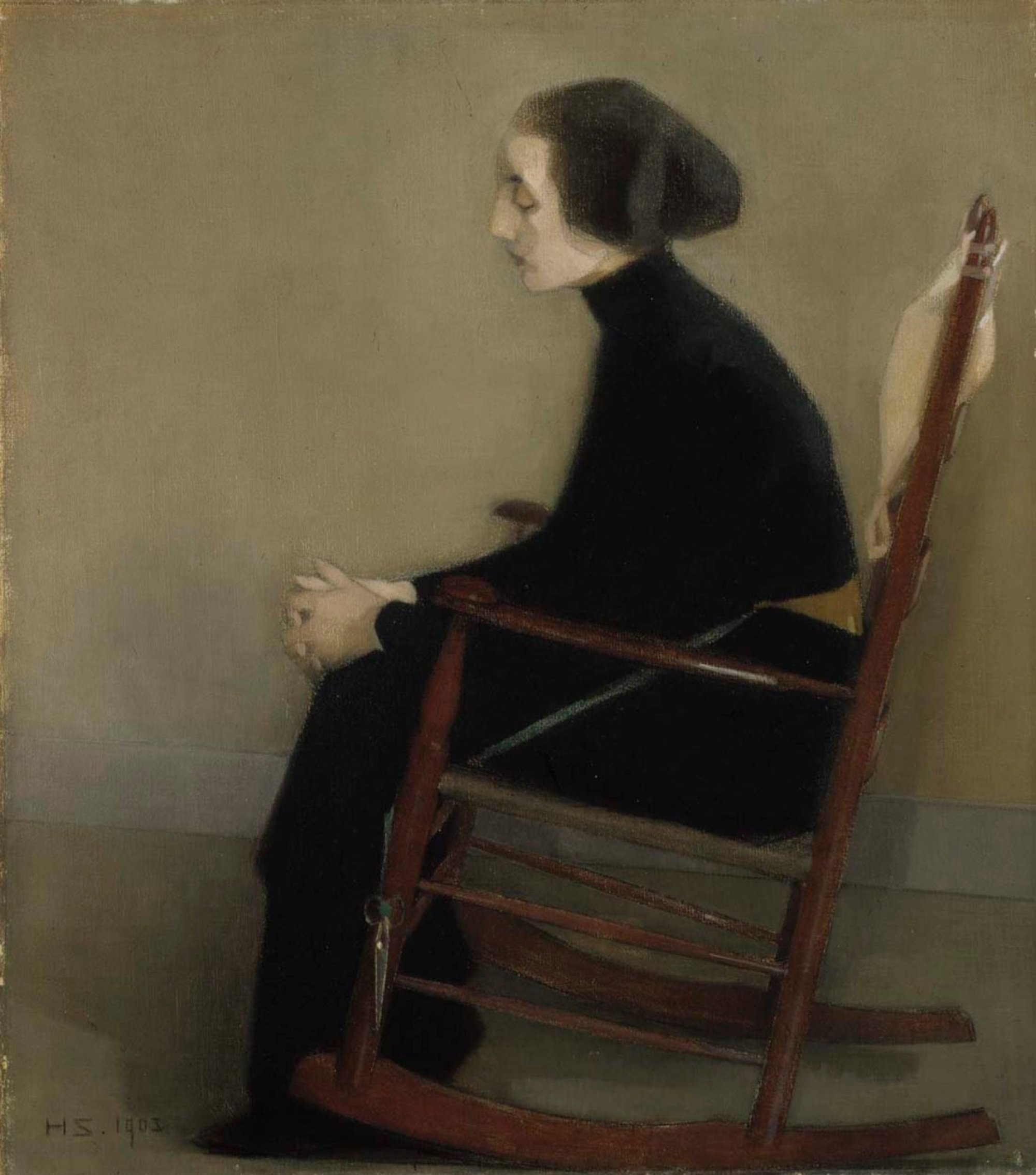 The Seamstress (The Working Woman), Helene Schjerfbeck Finnish National Gallery, 1905