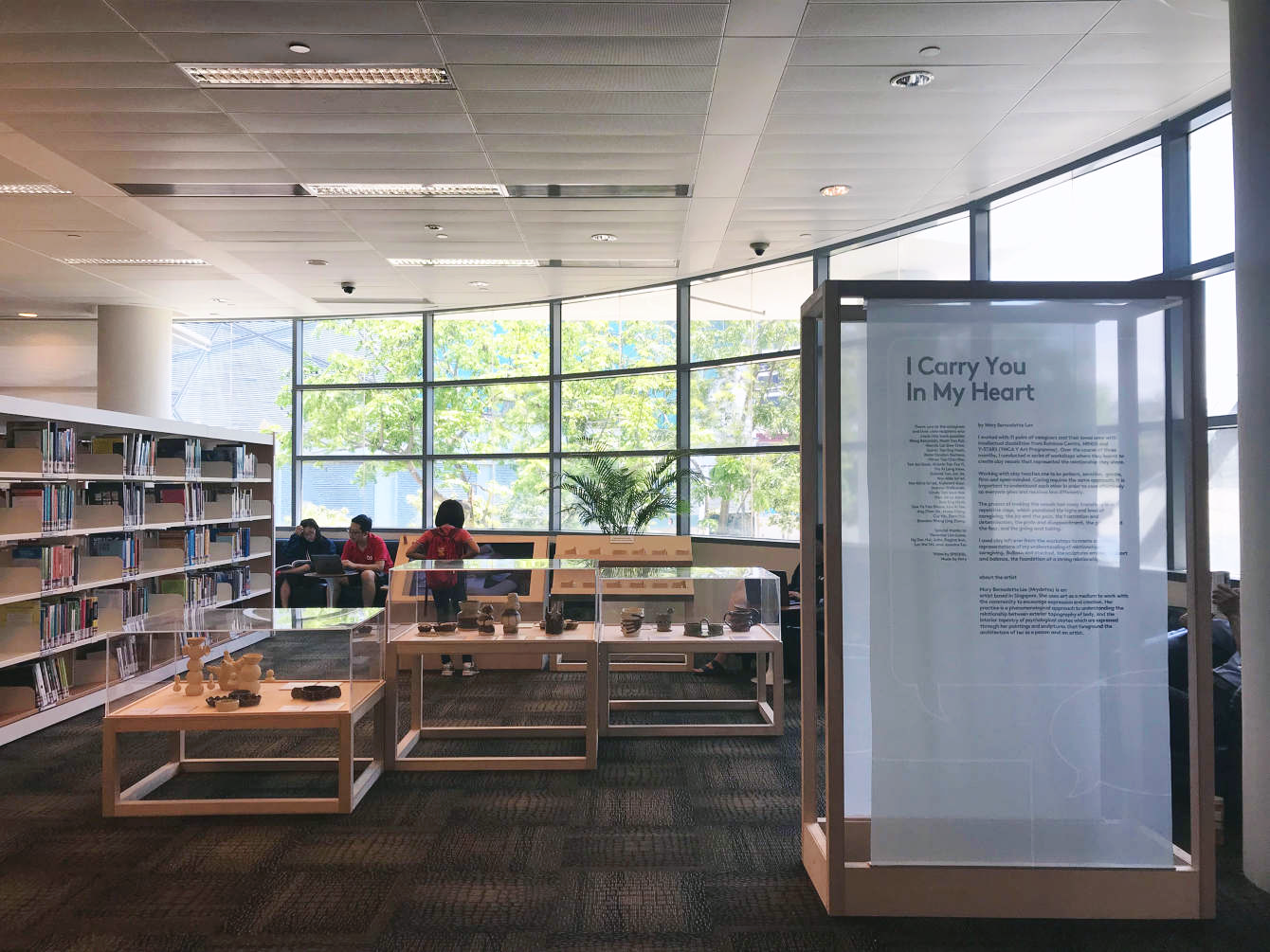 I Carry You In My Heart , Mary Bernadette Lee 2018, Installation View at Jurong Regional Library