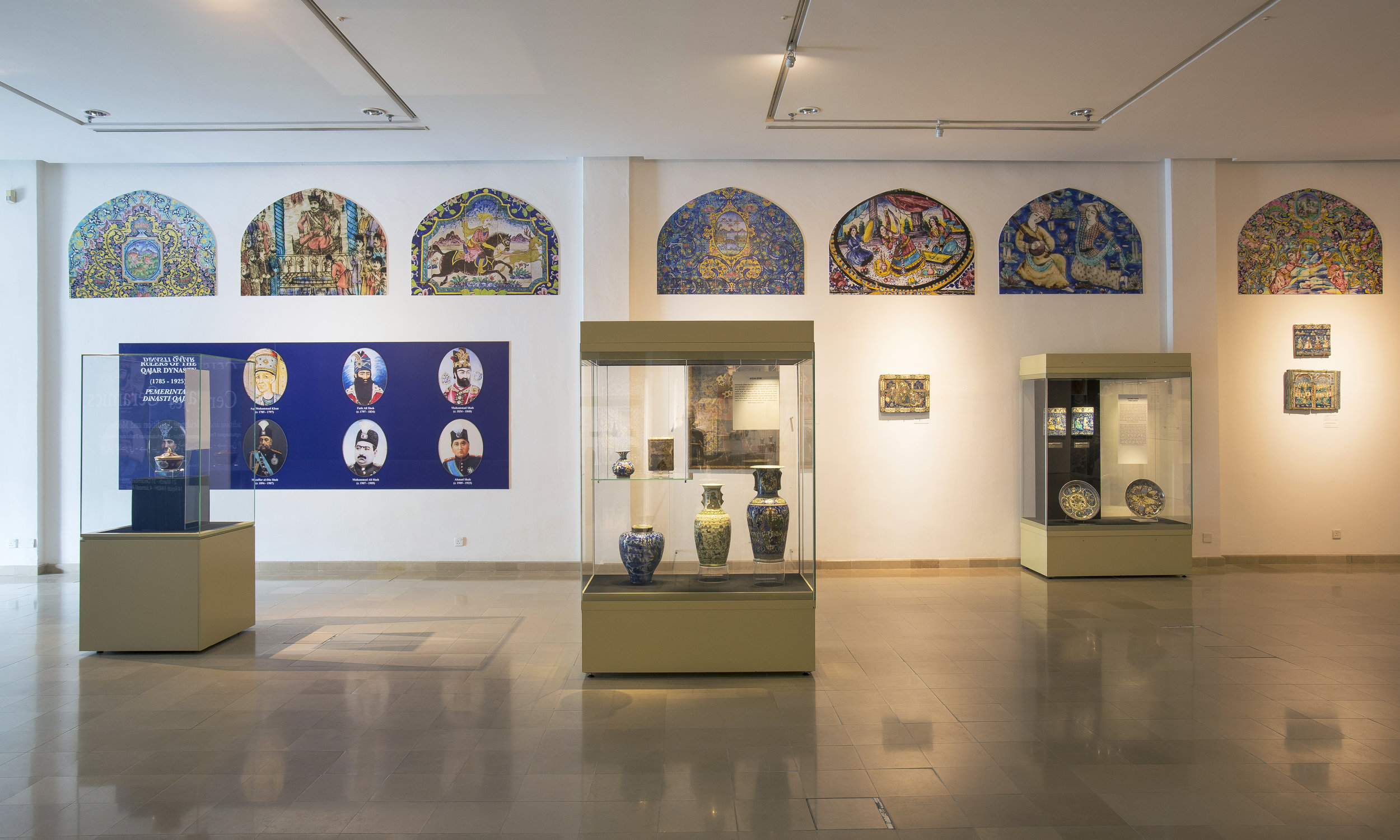 Qajar Ceramics: Bridging Tradition and Modernity  Installation View at the Islamic Arts Museum Malaysia  Credit: Islamic Arts Museum Malaysia
