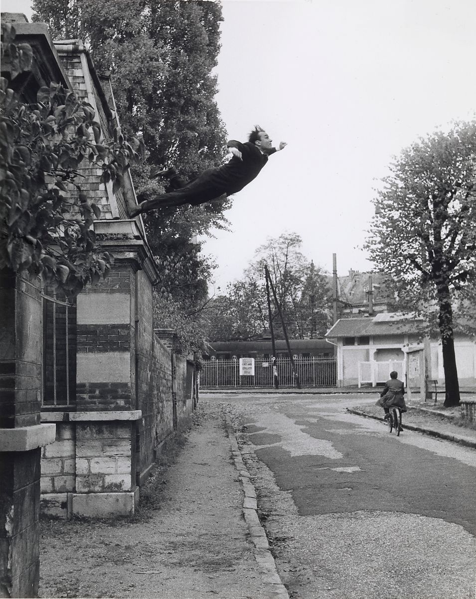 Leap Into The Void , Yves Klein The Metropolitan Museum of Art, 1960