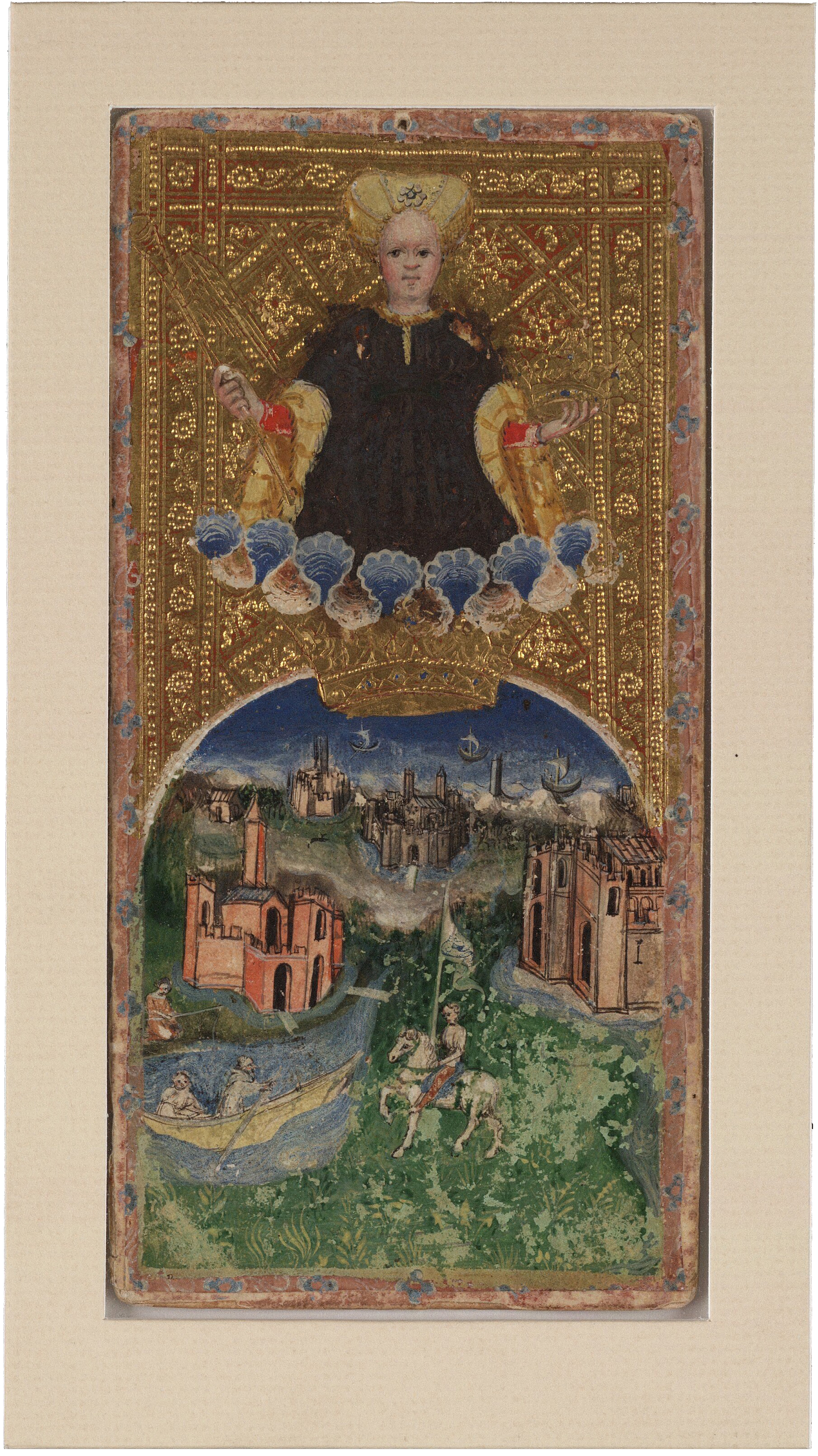 World from the Visconti Tarot , Bonifacio Bembo Beinecke Rare Book and Manuscript Library, c. 1426-1447