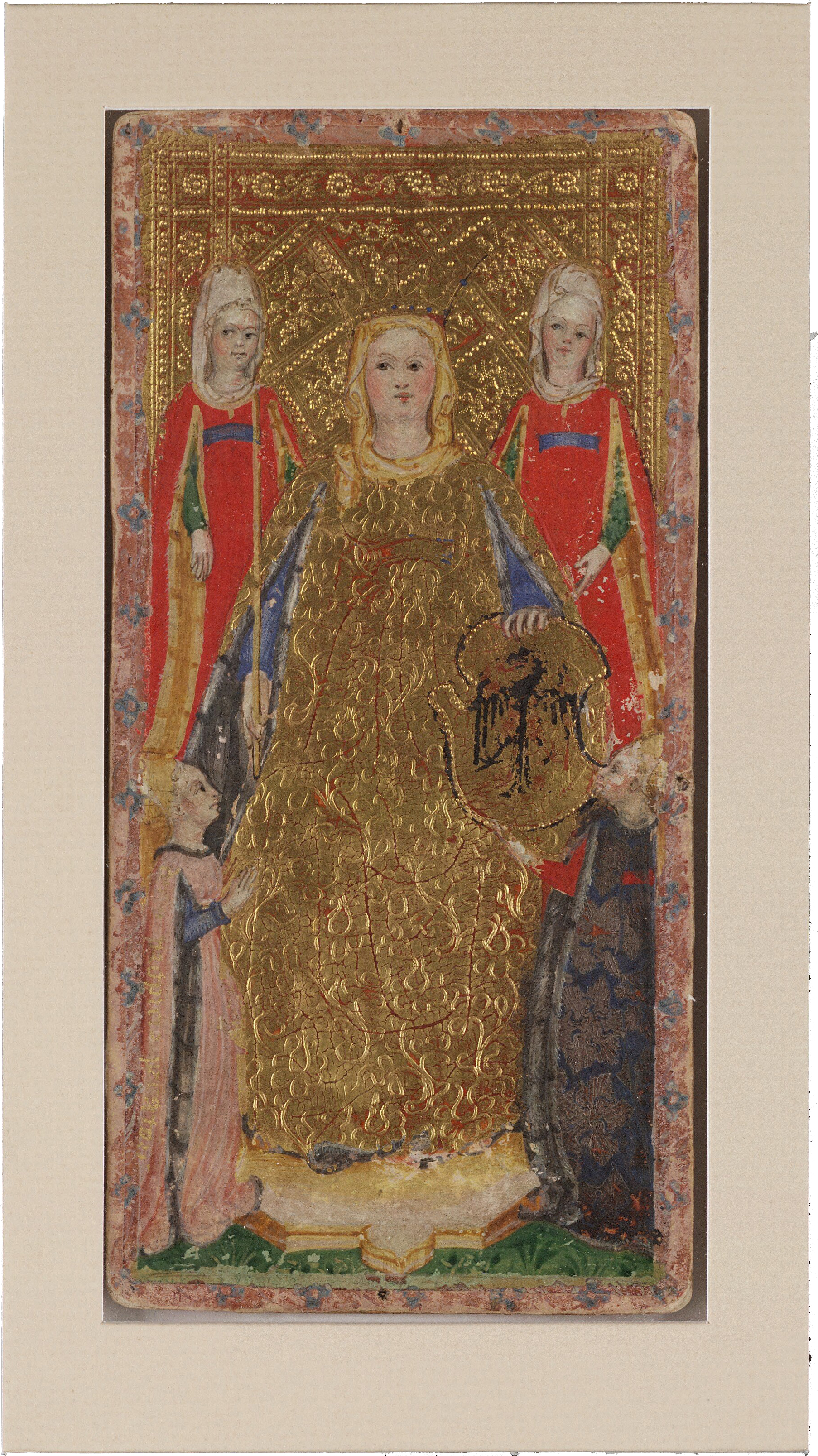 Empress from the Visconti Tarot , Bonifacio Bembo Beinecke Rare Book and Manuscript Library, c. 1426-1447