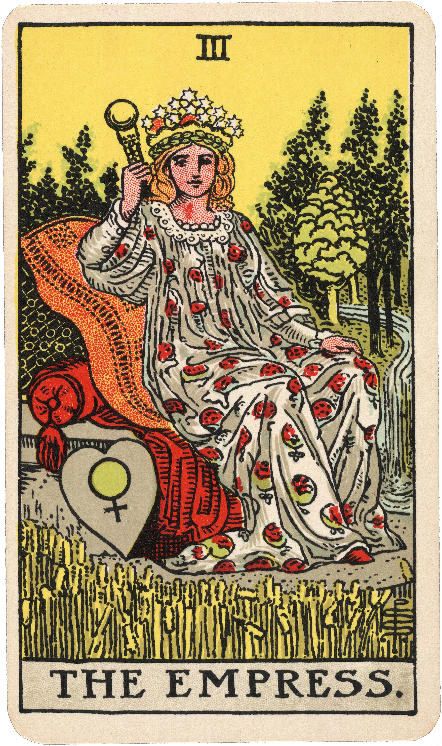 III The Empress from the Rider-Waite-Smith Tarot , Pamela Colman Smith Beinecke Rare Book and Manuscript Library, c. 1937