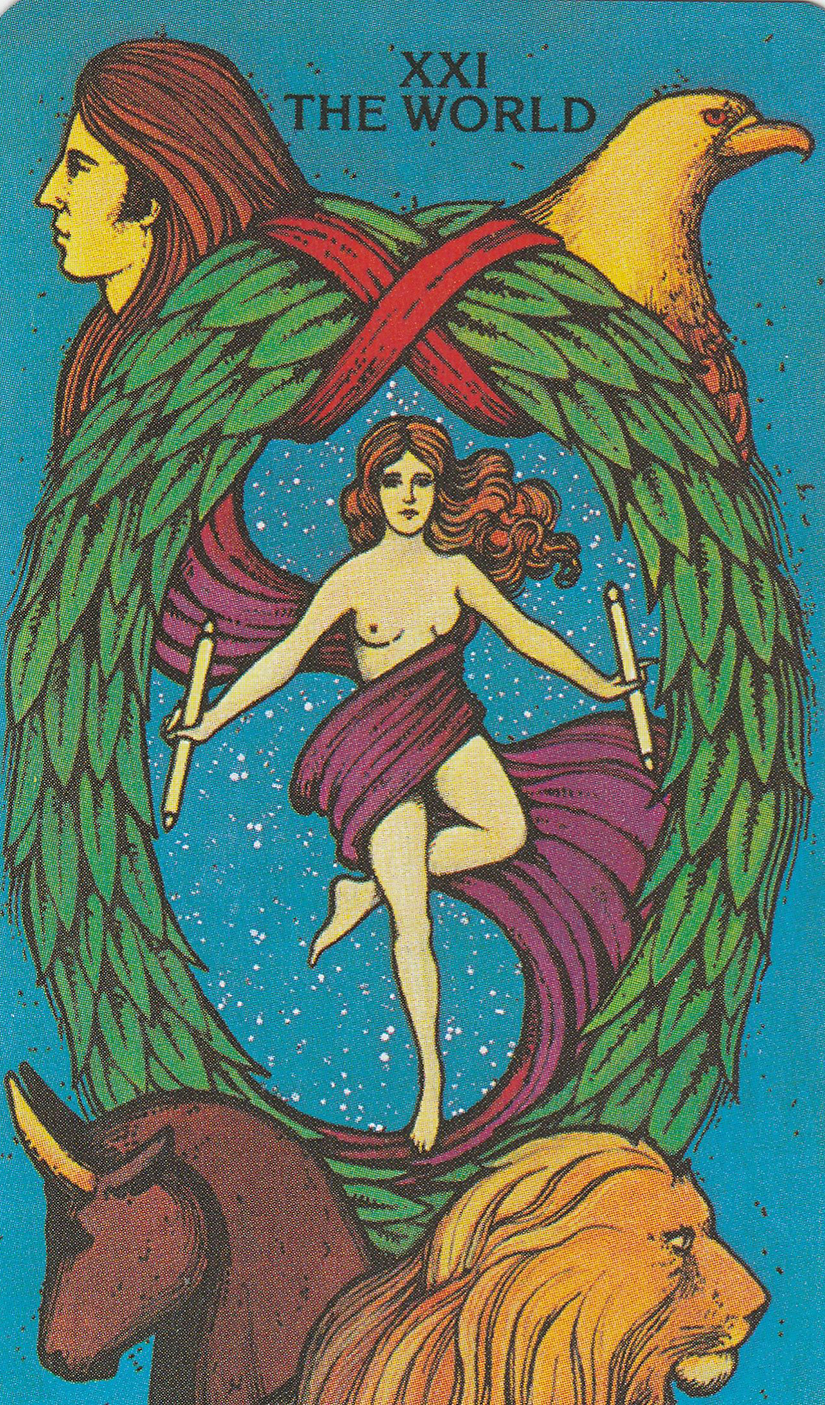 XXI World from the Morgan-Greer Tarot , Bill Greer and Lloyd Morgan 1979