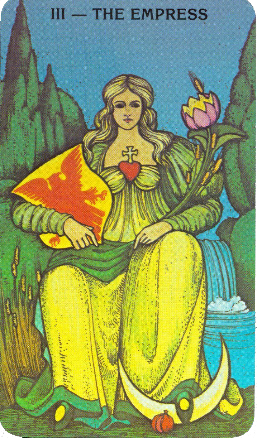III Empress from the Morgan-Greer Tarot , Bill Greer and Lloyd Morgan 1979