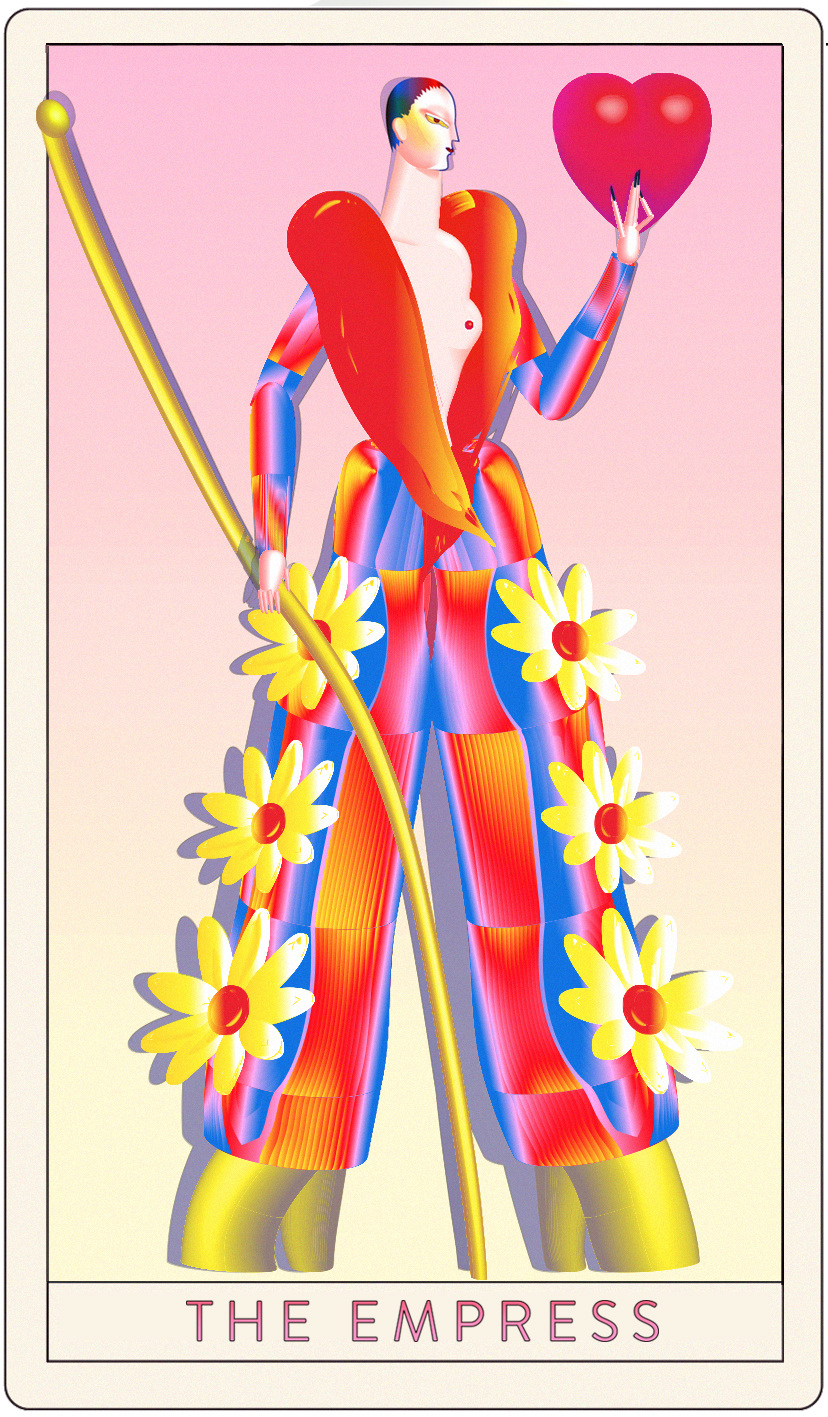 The Empress from the Missy Magazine Tarot , John Ohni Lisle 2016