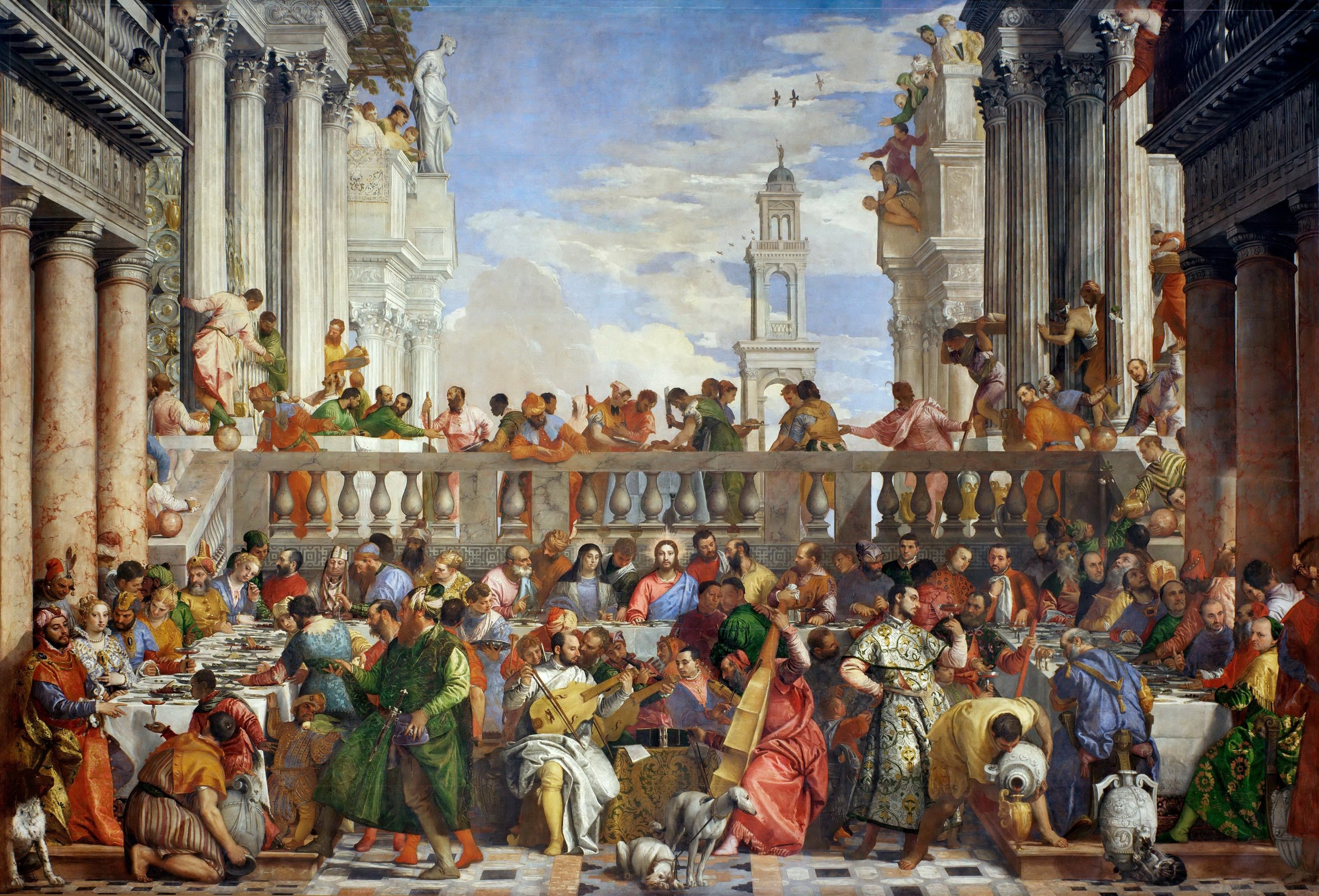 The Wedding Feast at Cana , Paolo Veronese Louvre Museum, 1563