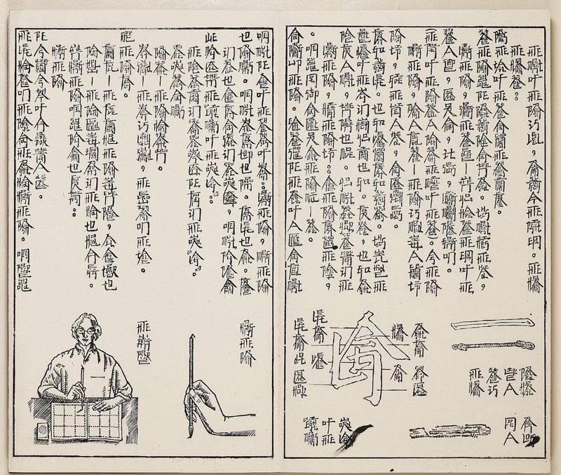 An Introduction to Square Word Calligraphy , Xu Bing Ashmolean Museum, 1994-1996, Detail