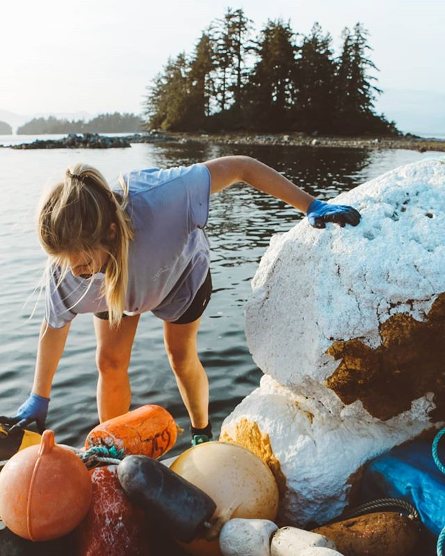 "New article up for @surfrider_pacificrim in @staywildmagazine about unruly memories made during remote cleanups from the summers of 2016-2018 🐚 - ""Two summers ago on Vargas Island, we left a clean up at Medallion beach back to our basecamp with a big exhale; we had collected ten one ton super sacs worth of marine debris, and we still needed to return to do more. As one volunteer remarked, it was though a plastic bomb went off, and our spirits were hanging low from this heavy experience. We headed back to our temporary home near sunset, and when we arrived at our rock drop on the outskirt of Cow Bay, and fellow volunteer, @colmecoco, who had been on another team came running down the rocks. A pilot from Victoria had landed his seaplane on Cow Bay to stay for the night, and had asked her to go on a scenic flight around Clayoquot and Nootka Sound. Fortunately for me, she insisted that they wait for my return. So, just like that, I hopped off the boat, ran as fast as I could manage, and then we hopped onto the plane and slid into thin air. - We travelled north over Clayoquot to Nootka Sound and landed on Nootka Island, a place I had never stepped foot. We checked out a nearby waterfall and grabbed a couple of buoys, as they dotted the beach like giant confetti. With some laughs had, photos taken, and buoys in hand, we boarded the small craft back to Vargas. It was incredible to have my perspective shift so rapidly, from the minutiae scale with my fingers deep in the sand and soils collecting debris to the grand views of Vancouver Island's rugged edge. Seeing the undeveloped shorelines, some of Canada's remaining old growth rainforest, and the vast view of the sea from the plane felt particularly magical after doing such hard ground work. It was one of those moments where the beauty was hard to comprehend, you could only be with it, and rest a little easier with all of it in your heart."" - 📸 by the talented @nicole.holmann from the recent Broken Group Island trip! . . . #beachcleanup #earthfocus #noplanetb #endplasticpollution #greenliving #explorebc #regenerate #ecofriendly #environment #stayandwander #marinedebris"