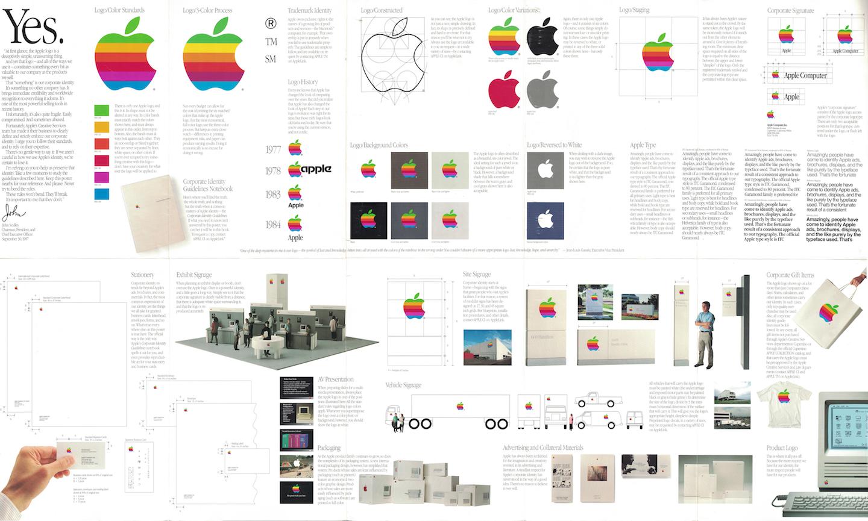 Apple's visual brand identity, 1987.